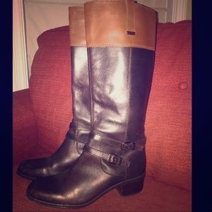 Bandolino Tall Riding Boots- size 8.5 Two Toned